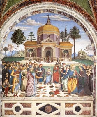 Pinturicchio. Christ among the teachers