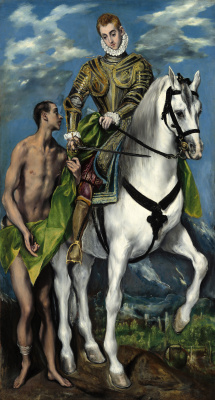 Domenico Theotokopoulos (El Greco). Saint Martin and the beggar