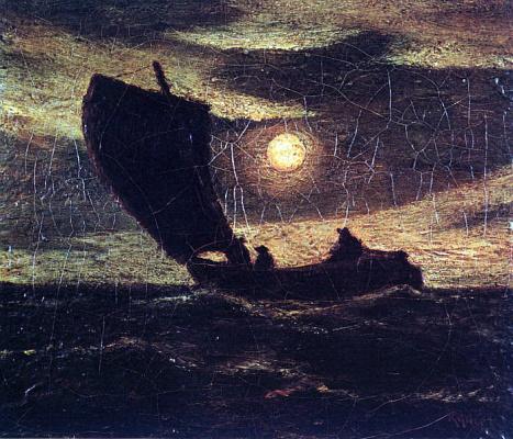 Albert Pinkem Ryder. The full moon