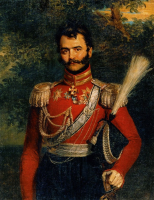 George Dow. Portrait of V. V. Orlov-Denisov