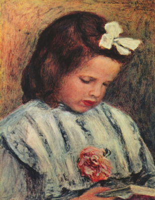Pierre-Auguste Renoir. Reading girl