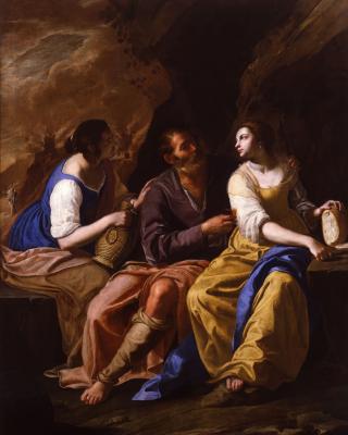 Artemisia Gentileschi. Lot and his daughter