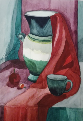 Polina. Still life in contrasting colors