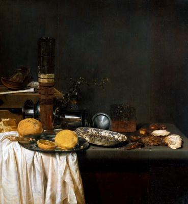Jan van de Vel. Still life with lemon