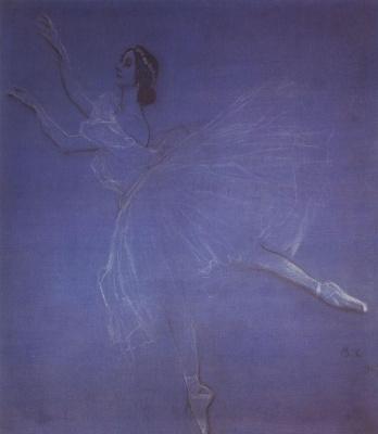 Valentin Aleksandrovich Serov. Anna Pavlova in the ballet of the Sylphide