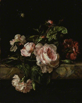 Willem van Aelst. Still life with flowers