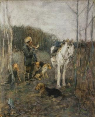 «Охотник с гончими» 1910