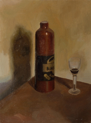Pavel Viktorovich Petrov. Still life with bottle and glass