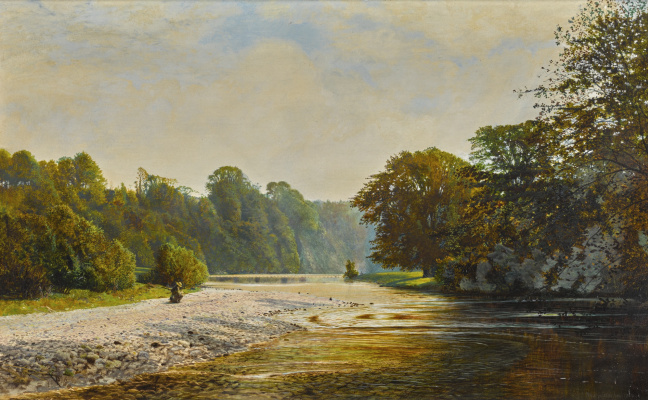 John Atkinson Grimshaw. Rockbank, Bolton Abbey