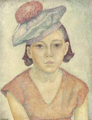 Maria Bronislavovna Marevna (Vorobyeva-Stebelskaya). Portrait of Marika, the daughter of the artist.1930