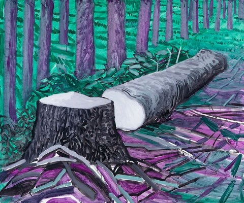 David Hockney. Ruined Totem