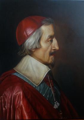 Кардинал Ришелье - копия картины маслом