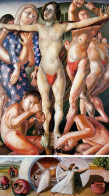 Stanley Spencer. The Crucifixion