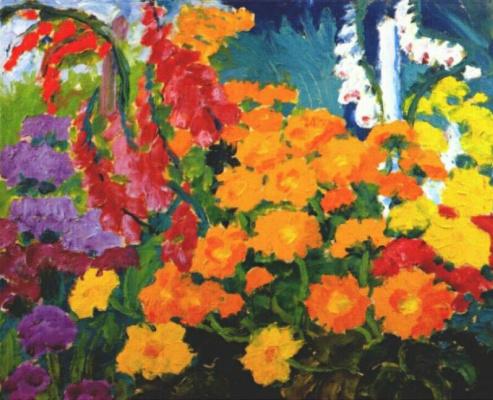 Emil Nolde. Flower garden