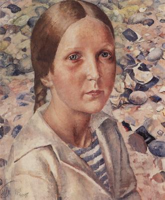 Kuzma Sergeevich Petrov-Vodkin. Girl on the beach