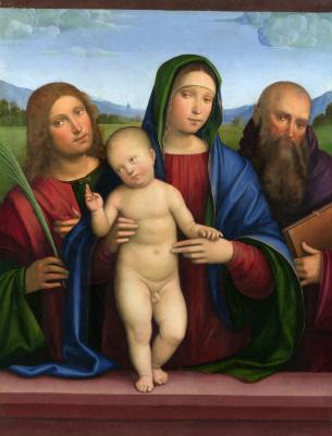 Франческо Франча. Дева с младенцем и двумя святыми