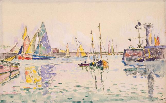 Paul Signac. Sailboats in the Harbor of Les Sables-d'olonne