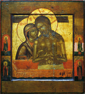 """Icon Painting. """"Do not sob Mene, Mati"""", with the saints in the fields (Nevyansk)"""