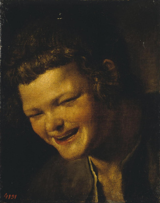 Diego Velazquez. Head of a laughing boy