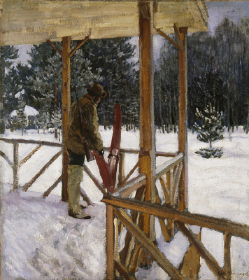 Sergey Arsenievich Vinogradov. Hunter with skis