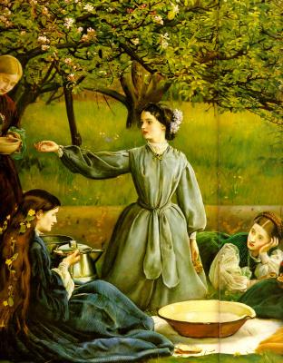 John Everett Millais. Blooming Apple trees (Spring). Fragment III