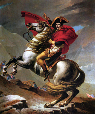 Jacques-Louis David. Napoleon at the pass Saint-Bernard I