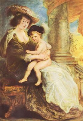 Питер Пауль Рубенс. Портрет Елены Фоурмен с сыном Францем