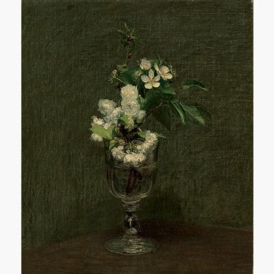 Henri Fantin-Latour. Cherry flowers
