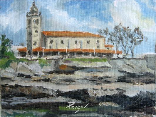 Константин Прусов. Отлив. Вид на церковь Санта-Мария. Луанко
