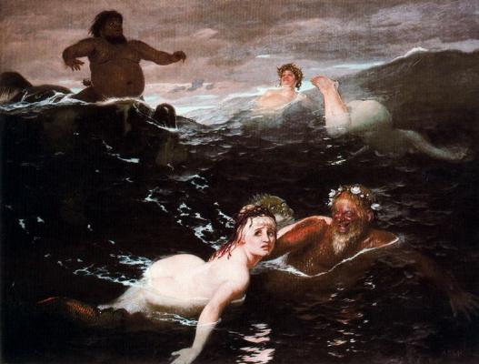Arnold Böcklin. Mermaid
