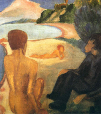 Erich Heckel. On the beach