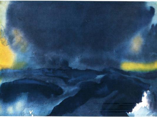 Emil Nolde. Blue sky