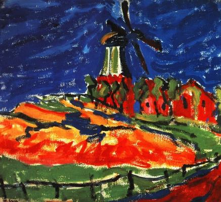 Erich Heckel. Windmill in Dangast