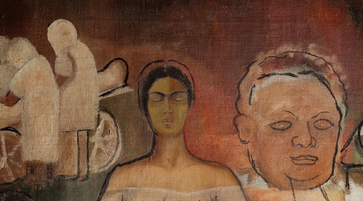 Frida Kahlo. Frida and the cesarean section (fragment)