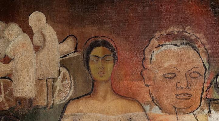 Frida Kahlo. Frida and the cesarean section (fragment)
