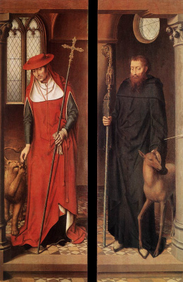 Hans Memling. Altar Of The Passion (Triptych Greverud). Closed sash