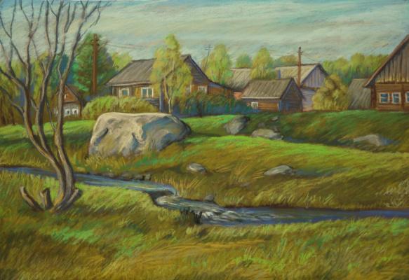 Irina Soboleva. May evening in the village
