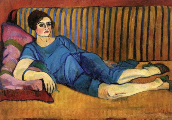 Suzanne Valadon. Женщина, лежащая на софе. 1917-1918