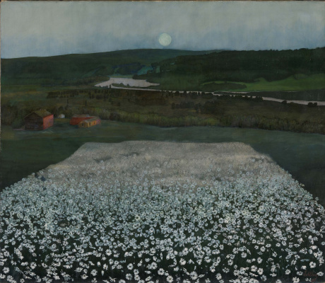 Harald Oskar Sohlberg. Flower Meadow in the North