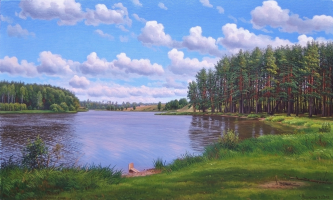 Alexander Vasilyevich Zoryukov. Lower lake. Good weather