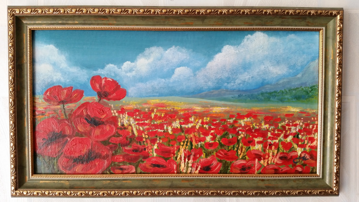 Irina Belyaeva. Poppy field