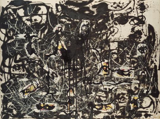 Jackson Pollock. Yellow island