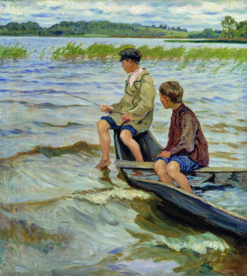 Nikolay Petrovich Bogdanov-Belsky. Anglers