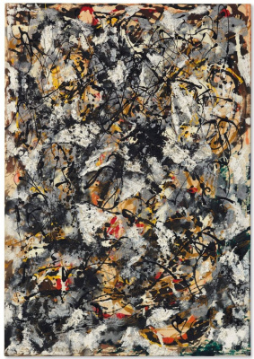 Jackson Pollock. Composition with Red Strokes