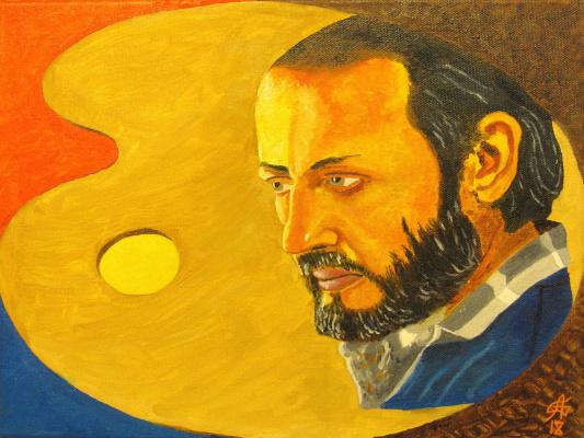 Artashes Badalyan. Painter Igor Sakharov - x / m - 30x40