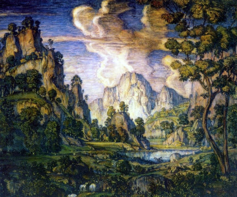 Konstantin Fedorovich Bogaevsky. Classic landscape