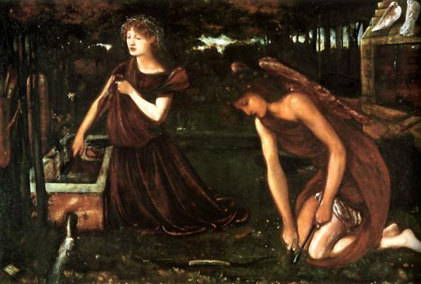 Edward Coley Burne-Jones. Cupid's Forge