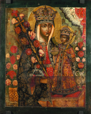 Russian Icon. Mother of God Fadeless Color