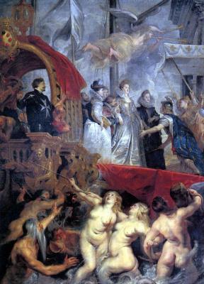 Peter Paul Rubens. The arrival of Marie de Medici in Marseille