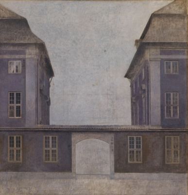 Vilhelm Hammershøi. Buildings of the Asian company in St. Anne Street, Copenhagen